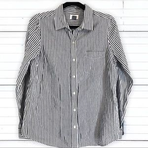 Old Navy Striped Button Down Shirt Career Work